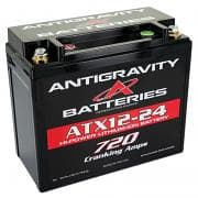 ANTIGRAVITY BATTERIESBattery, Lithium-ion, 12V, 720 Cranking amp, Top Post Screw-In Terminals, 5.90 in L x 5.12 in H x 3.40 in W, Each