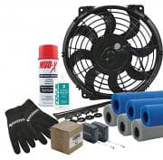 CTS Combination Pack, Electric Cooling Fan / Gloves / Mud-X / Plastic Polish / Roll Bar Padding / Rivets / Tape Measure, Kit