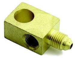 FEMALE BRAKE TEE - FEMALE 10MM X 1.0 INVERTED FLARE- BRASS
