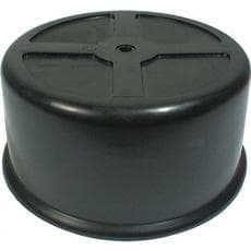 CTS Carburetor Cover, 2-1/2 in Tall, Plastic, Black, 5-1/8 in Flange, Each