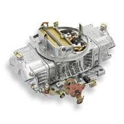HOLLEY Carburetor, Model 4150, 4-Barrel, 650 CFM, Square Bore, Manual Choke, Mechanical Secondary, Dual Inlet, Silver