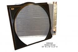 DOMINATOR BLACK PLASTIC RADIATOR SHROUD-DESIGNED BY BARRY WRIGHT
