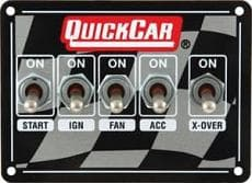 QuickCar Dual Dirt Ignition Control Panel