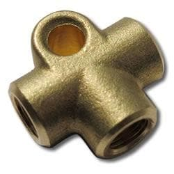 FEMALE BRAKE TEE - FEMALE 10MM X 1.0 CONCAVE-ISO- BRASS
