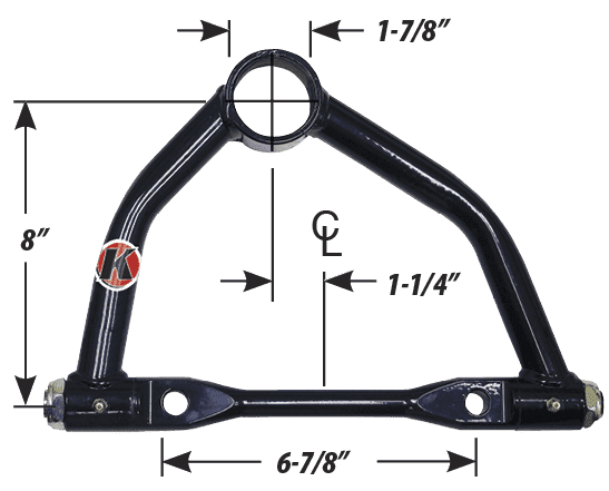 CTS GM Metric Offset Upper A-Arm, Large Screw-In Ball Joint