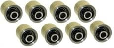 CTS GM REAR TRAILING ARM MONO BALLS-REPLACEMENT BUSHINGS FOR STOCK CONTROL ARMS, 1966-1988 G BODY