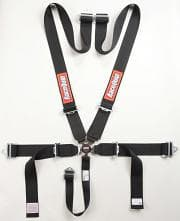RACEQUIP Harness, 5 Point, Camlock, SFI 16.1, Pull Down Adjust, Bolt-On / Wrap Around, Individual Harness, Black, Kit