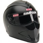SIMPSON Helmet, Diamondback, Snell SA2020, Head and Neck Support Ready, Flat Black,