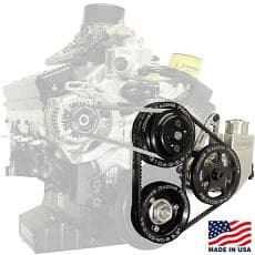 JONES RACING 604 Serpentine Belt Water Pump & Power Steering Pump Front Drive Kit System
