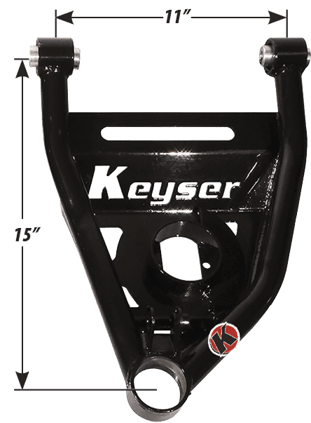 KEYSER TUBULAR LOWER CONTROL ARMS FOR CHEVELLE, 1964-72 PLUS 1.00""