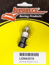 Longacre 52-43510 AccuTech SMi Pressure Sending Unit, Electric, 1/8 in NPT Male Thread, 0-15 psi, Brass