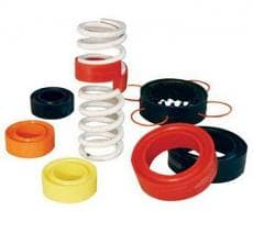 URETHANE SPRING RUBBERS FOR COIL OVERS