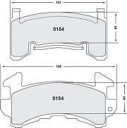 PERFORMANCE FRICTION Brake Pads, 13 Compound, All Temperatures, GM Metric Calipers, Set of 4
