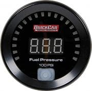QUICK CAR DIGITAL Fuel Pressure Gauge, 0-100 psi, Electric, Digital, 2-1/16 in Diameter, Black Face