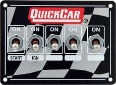 QUICKCAR Dual Ignition Control Panel Weatherproof Panels with Three Accessory Switches