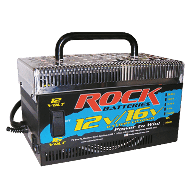 ROCK Battery 16 Volt or 12 Volt Battery Maintainer & Charger-230 VOLT FOR OVERSEAS