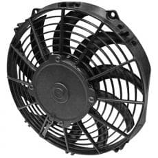 Spal Electric Cooling Fan, Low Profile, 10 in Fan, Puller, 802 CFM, Curved Blade