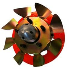 "Ultra Cool ALUMINUM Brake Fans Small 5 Brake Fan (1/2"" Stud)"