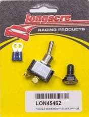 LONGACRE Starter Switch, Momentary Toggle With Weatherproof Switch Cover
