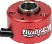 QUICKCAR RACING PRODUCTS Steering Wheel Quick Release, Push Button Release, Hex Style, Aluminum, Red Anodize, 3/4 in Shaft, Kit