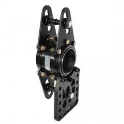 WEHRS HEAVY STEEL NARROW DOUBLE SHEAR BEARING SUSPENSION CAGE
