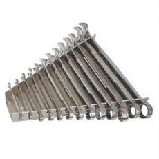 "Wrench Rack, Holds 13 Combination Style Wrenches, 1/4"" Through 1"", Aluminum"