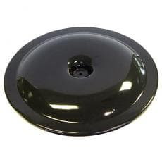 "BLACK POWDER COATED AIR CLEANER TOP 14"" ALUMINUM"