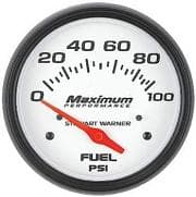 Stewart Warner Maximum Performance Series Analog Gauges-FUEL PRESSURE-CLOSE OUT $