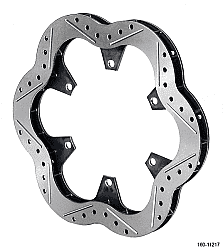 CTS Scalloped-Cross Dilled-Gas Slotted Solid Rotor-.375 Thick