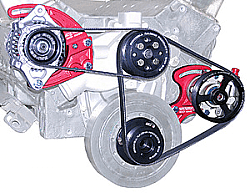 BICKNELL GM Crate 602 Block Mount Serpentine Power Steering Kit with Alternator Kit-17% Reduction