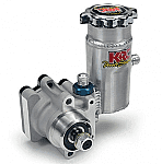 KRC PRO SERIES III PUMP 9.6CC WITH 17 SPLINED, THREADED SHAFT FOR PULLEY, AND KRC BOLT ON TANK